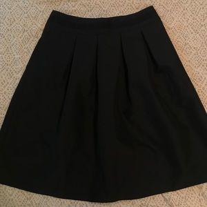 High-waisted Flare Midi Skirt